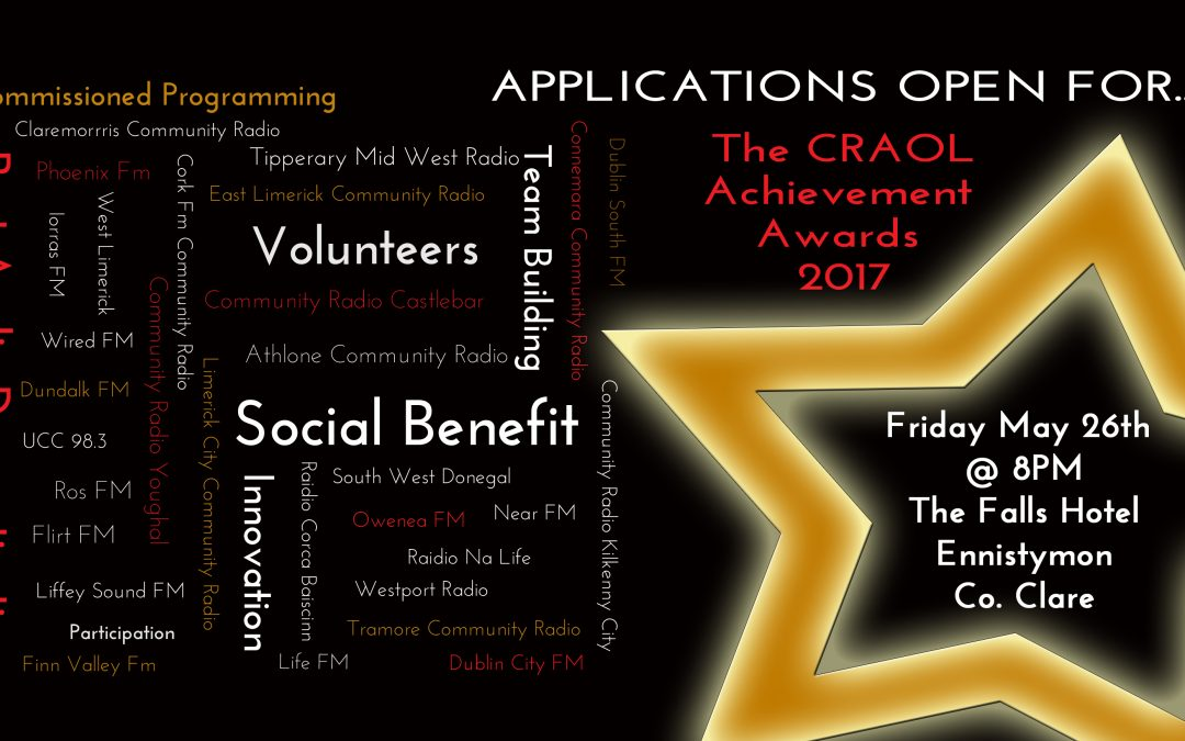 CRAOL Achievements Awards 2017 – Applications now open